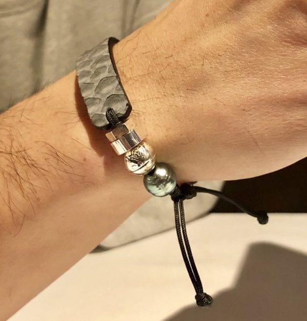 Grey Python skin bracelet