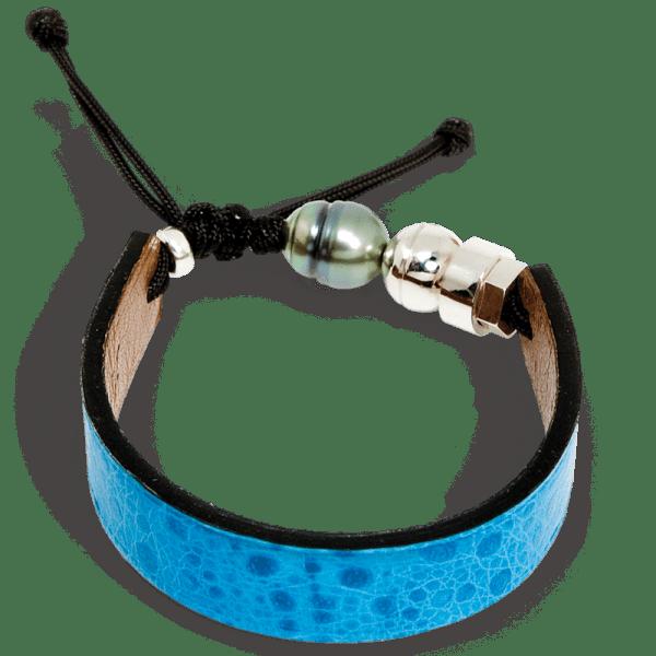 Blue cane toad bracelet