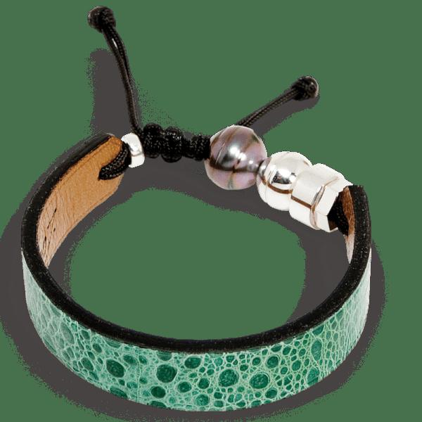 Green cane toad bracelet