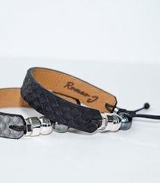 Collection bracelets en serpent python avec perle de tahiti et pièces en argent 925