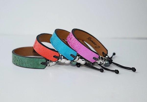 Bracelets en peau de crapaud marin de Romeo J.