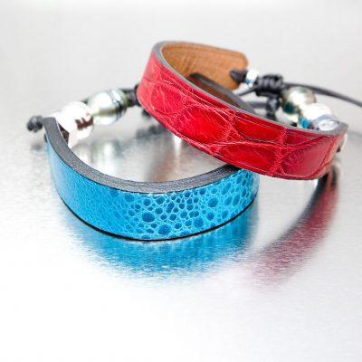 Rouge croco et bleu frog