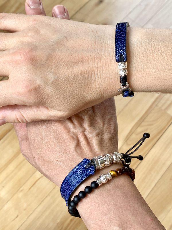 Bracelet en autruche homme et femme