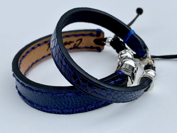 Bracelet for Couple in ostrich leather