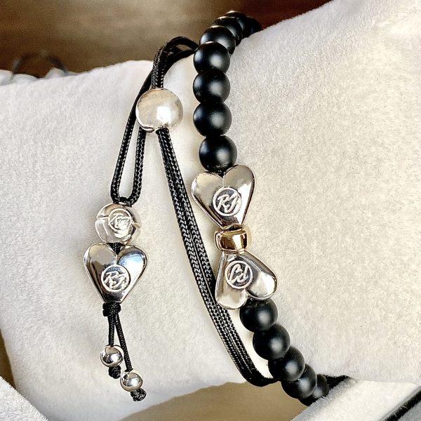 Combo Bracelet et collier coeur fait main à Montréal