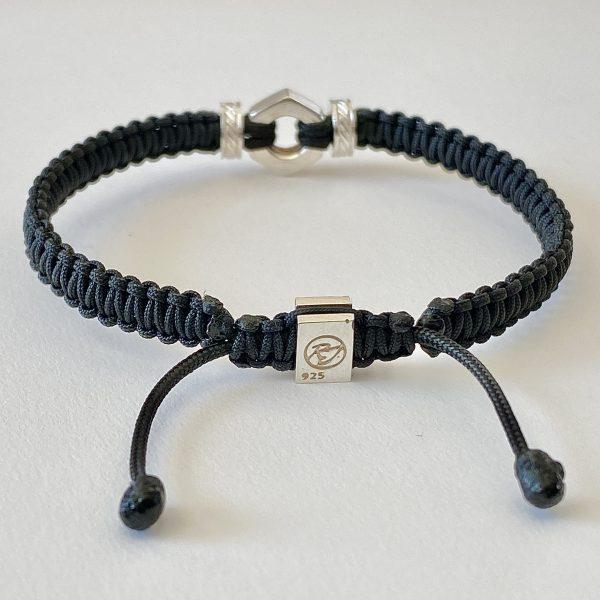 Bracelet 'Bolt' Romeo J. en macramé pour homme